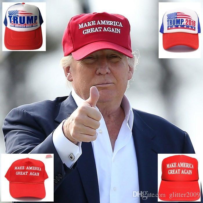 d035f7b9423 New Make America Great Again Hat Donald Trump Cap 2016 GOP Republican  Adjust Mesh Baseball Cap Patriots Hat Trump For President Hat Zephyr Hats  Kids Hats ...