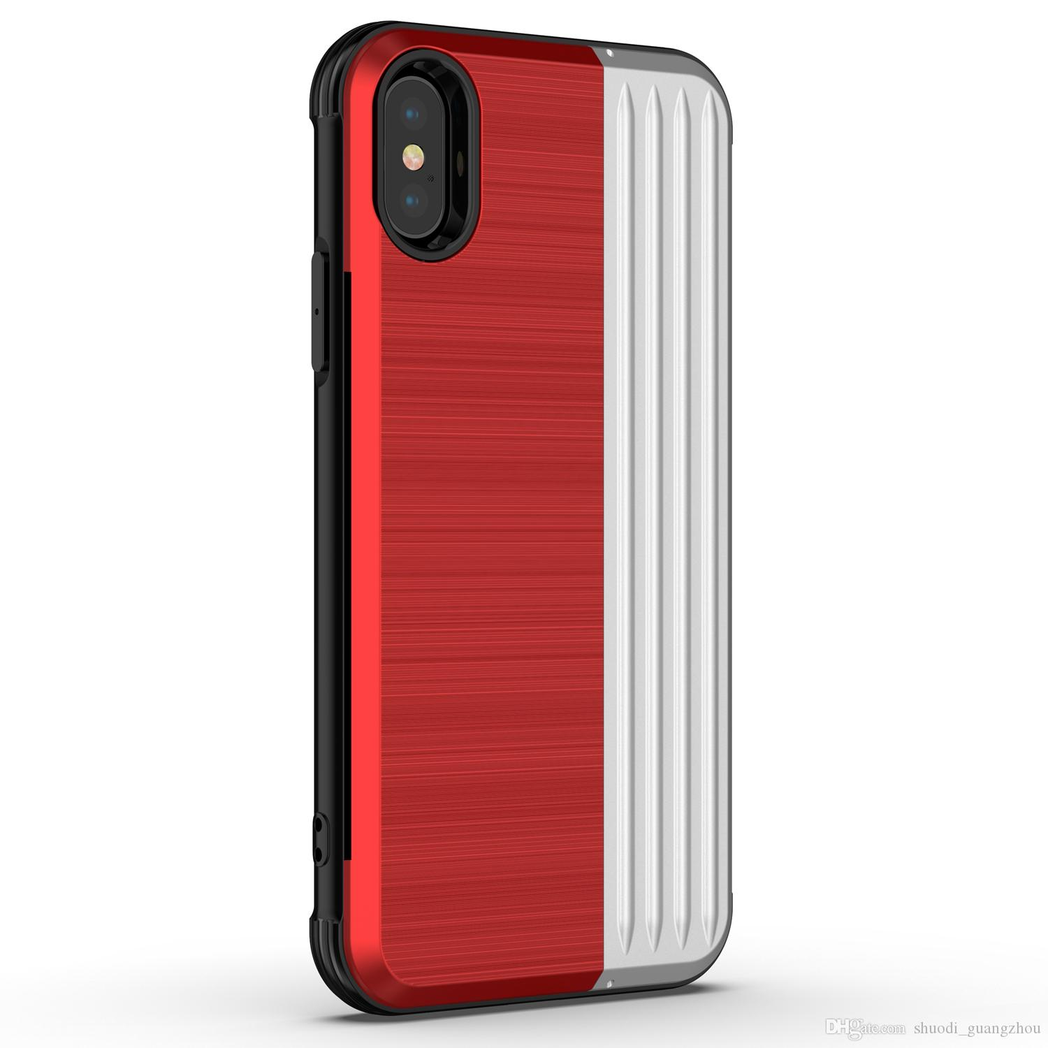 hybrid 2in1 armor cell phone case brushed kickstand pc tpu rh dhgate com
