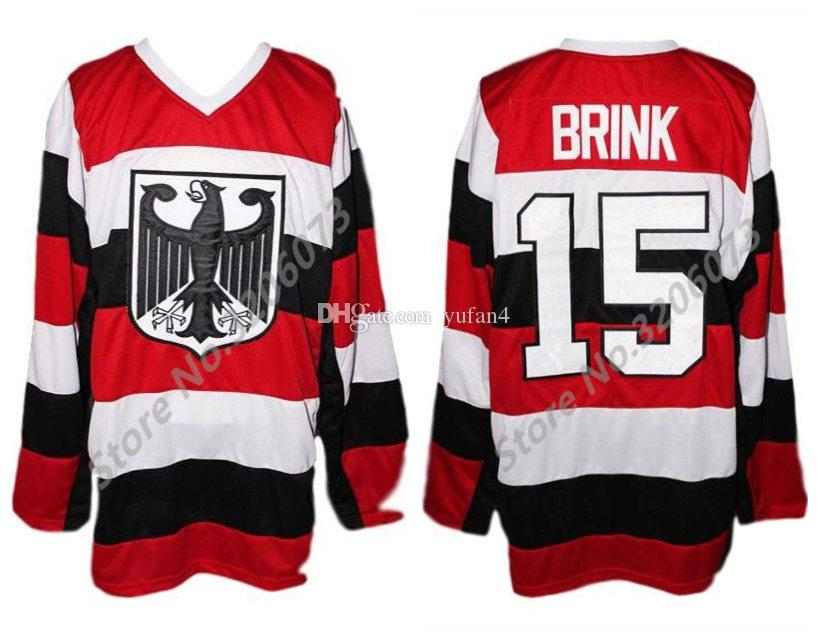 2019 Team Germany  15 Brink Retro Ice Hockey Jersey Mens Stitched Custom  Any Number And Name Jerseys From Yufan4 ee7e1988a4a