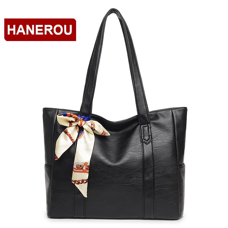 9256a611e8d1 Woman Soft Leather Tote Bag Western Styles Luxury Handbags Women Bags  Designer 2018 Large Capacity Shoulder Bag Sac A Main Femme Leather Bags For  Men ...