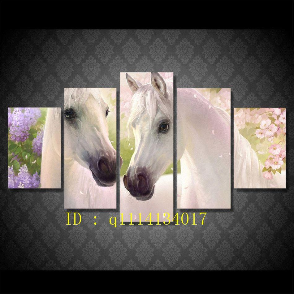 living room art prints%0A Blossom Artistic Horse Spring Flower Canvas Prints Wall Art Oil Painting  Home Decor  Unframed Framed Blossom Artistic Horse Spring Flower Home Decor  For