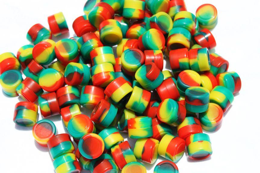 2ML / 2ml antiaderente vasetti silicone dab contenitore silicone cera dabs silicone contenitori