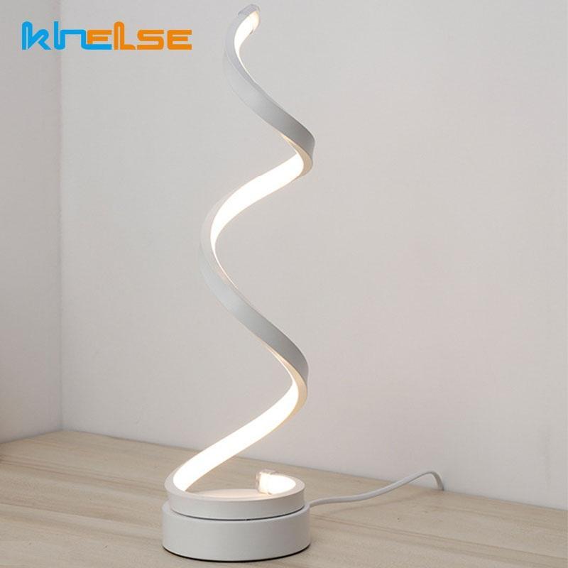 2019 20w led table lamp modern acrylic creative spiral table lights rh dhgate com