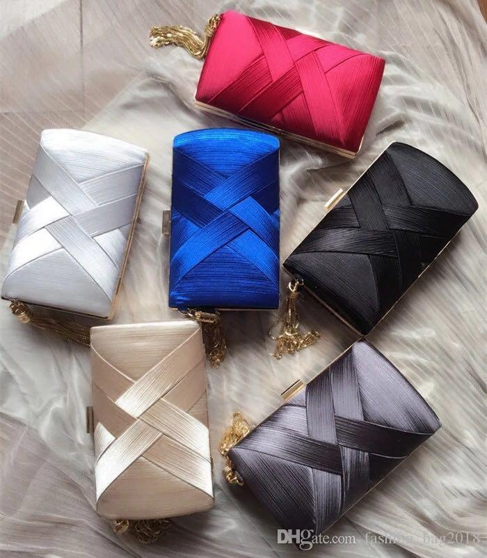 018 New cheap evening party green purse ladies satin fabric designer handbags PVC factory quality women European and American style free