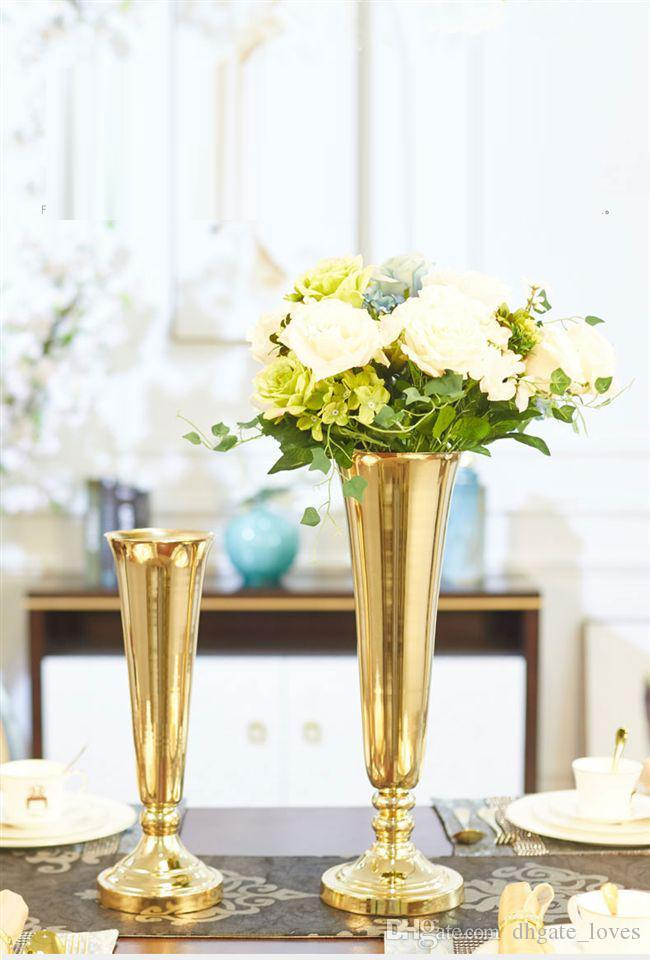 mental gold iron wedding table centerpieces withwout the flower and rh dhgate com