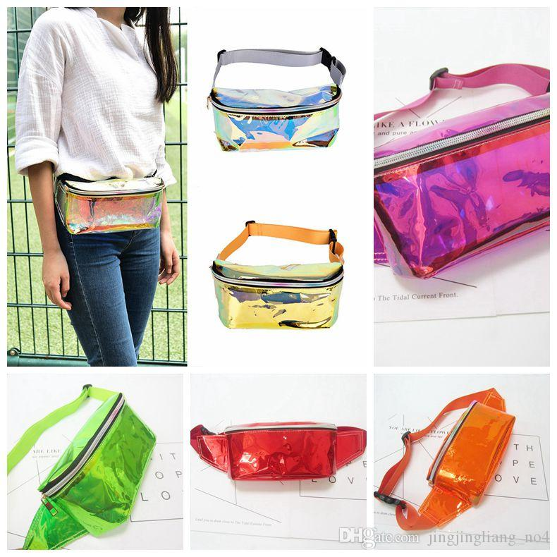 28abba7613f0 Waist Bag Punk Lady Girl Rainbow Transparent Fanny Pack Women Purse Waist  Bag EP Punk Party Beach bag BBA88
