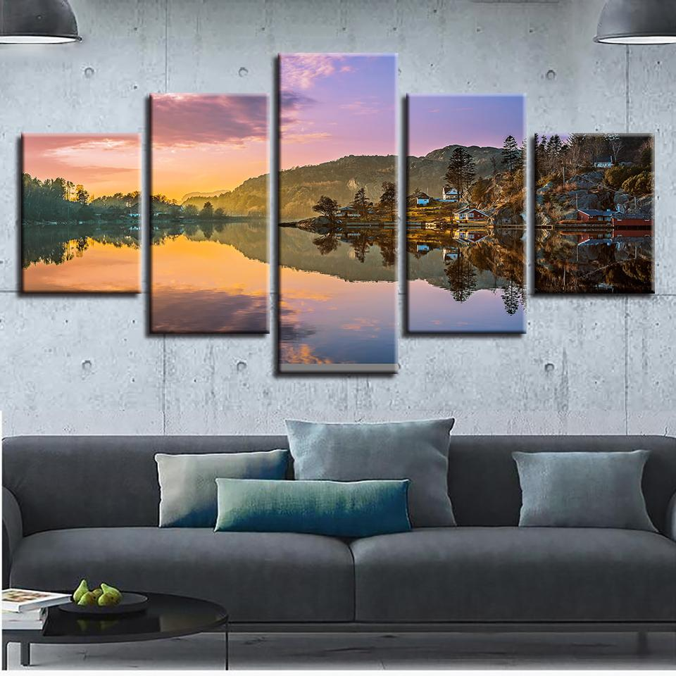 2019 canvas pictures wall art print home decor norway nature rh dhgate com