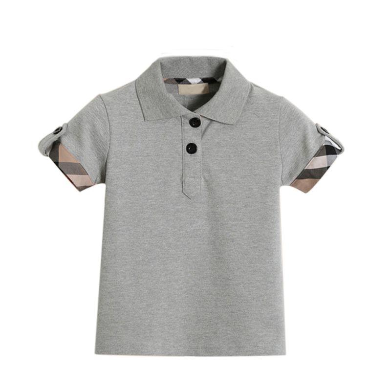 8ad01bf63a8 2018 Turn-Down Collar Vestuário Meninos T-Shirt Tops Respirável Verão T- Camisas Meninos Do Bebê Para 1 -6 Anos de Idade Camisas Polo Meninos Roupas