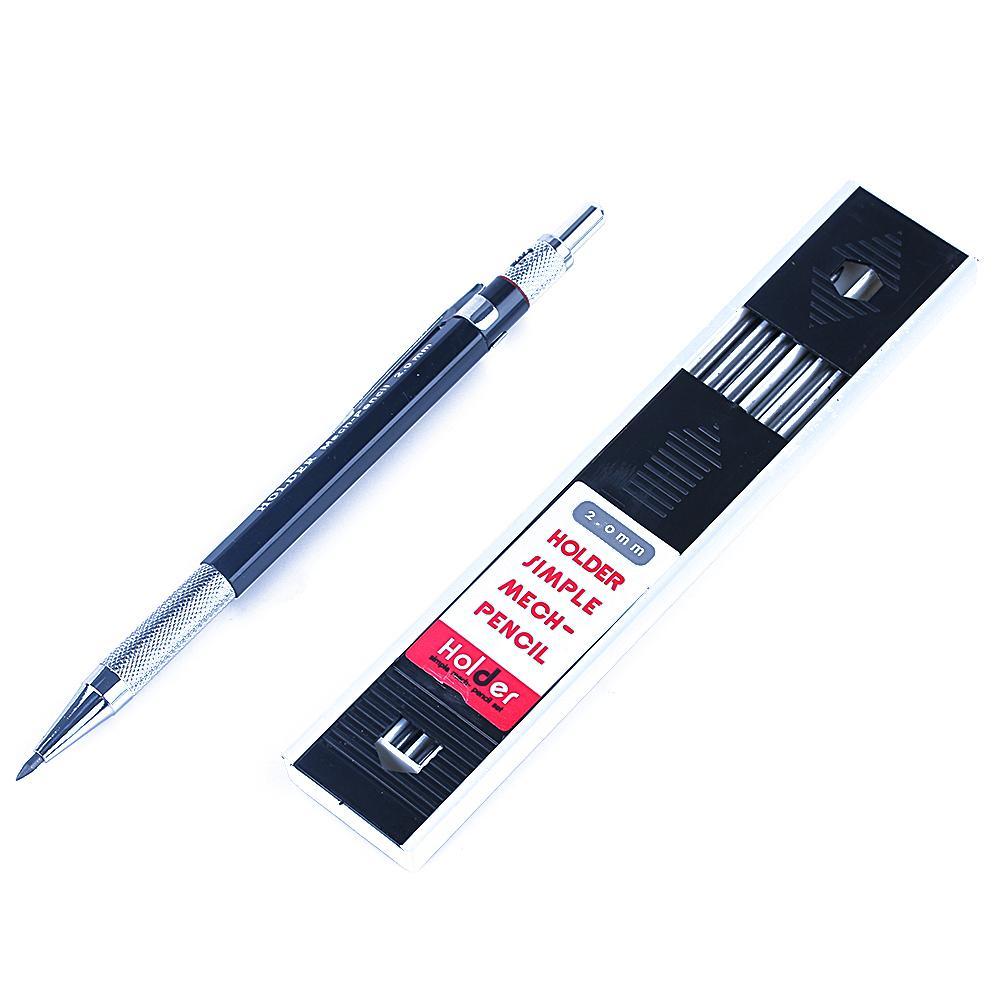 Satın Al 1 Takım Yeni Moda Otomatik Mekanik Kalem Boyama 12 Grafit