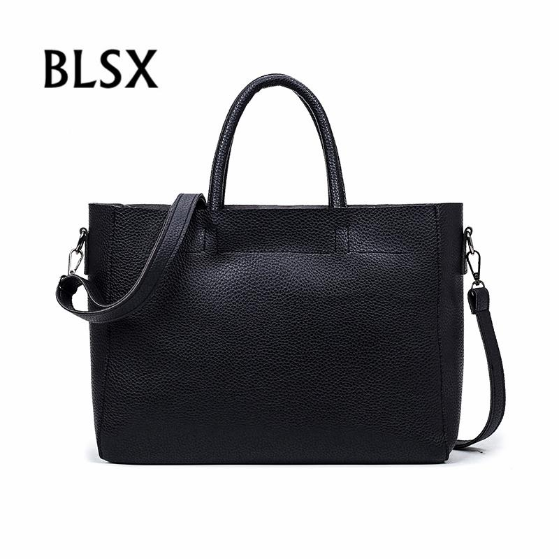 696a8b0dc6cc BLSX 2018 New Fashion Casual Tote Large Capacity Ladies Handbag Women Soft PU  Leather Hand Bags Famous Brand Bolsas Feminina Cheap Designer Bags Shoulder  ...