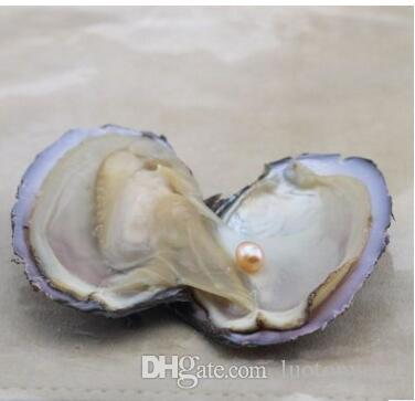 6-7.5mm Oyster Natural Pearl Oyster con gocce d'acqua Perle sfuse gioielli fai da te Fare confezioni sottovuoto all'ingrosso