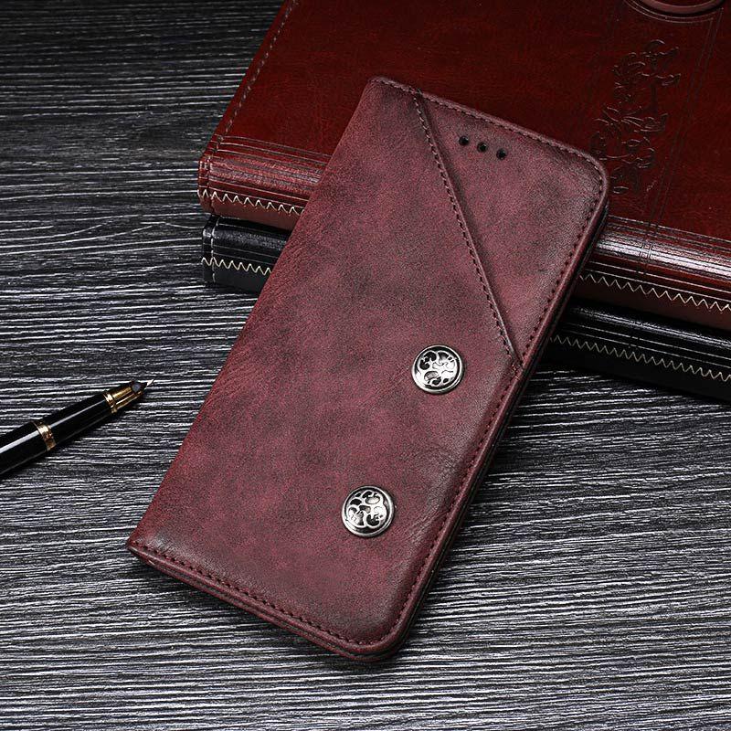 purchase cheap e2a85 958c6 Vivo V11 Pro Case Cover Luxury Leather Flip Case For Vivo V11 Pro  Protective Phone Case Retro Back Cover 6.41