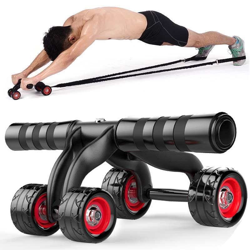 2019 four wheeles abdominal power wheel muscle exercise abs roller rh dhgate com