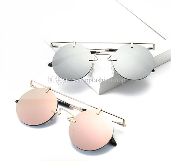 6fb980a3dd Rimless Steampunk Sunglasses Round Shades Men Women Brand Designer Glasses  Fashion Summer Style Vintage Eyewear UV400 Discount Sunglasses Sports  Sunglasses ...