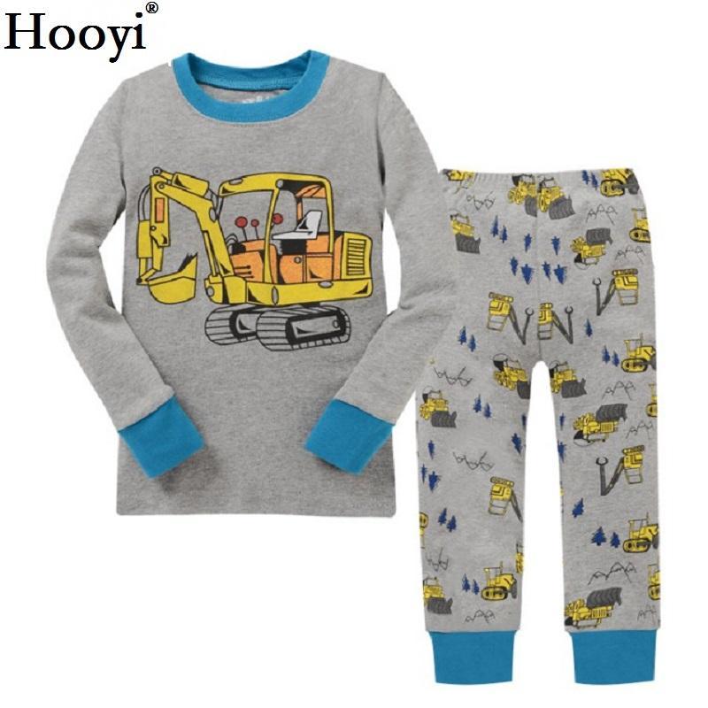 75c43d77b294 Hooyi Boy Pajamas Suit Long Sleeve Pajama Children Pijama Kids ...