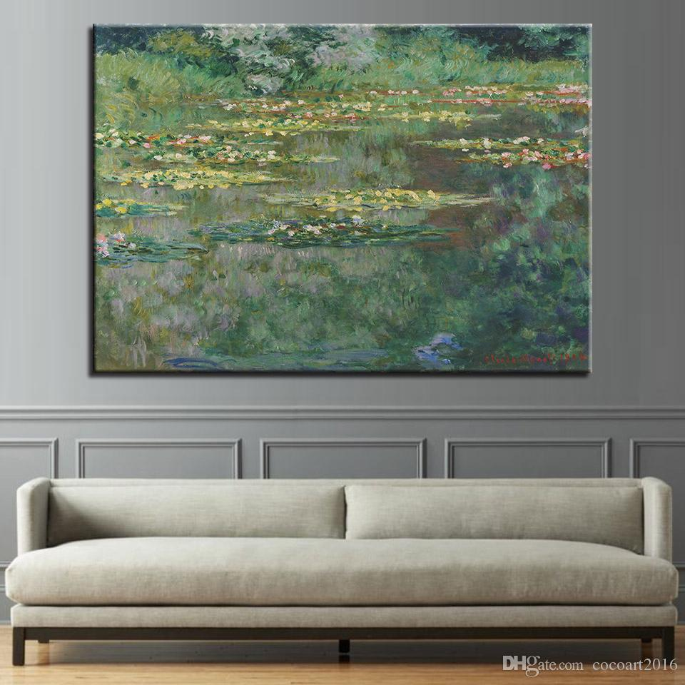 2019 canvas hd prints pictures living room water lily pond landscape rh dhgate com