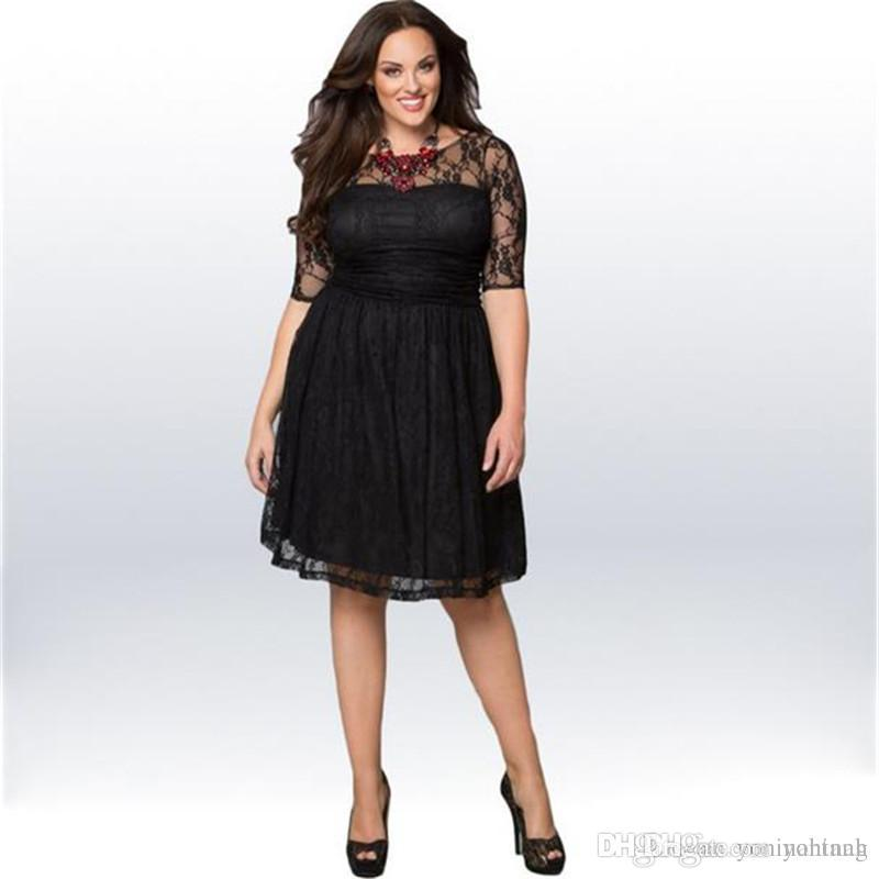 Wholesale 3XL Big Size Summer Women Lace Short Sleeve Casual Dress For Fat  Women Clothing Summer Dresses For Women Unique Dresses From Yoninah 9c838e965924