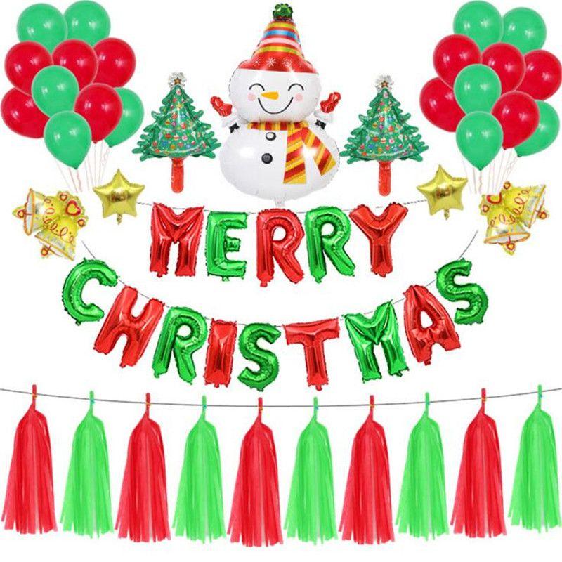 merry christmas party balloon flag banner christmas tree santa rh dhgate com