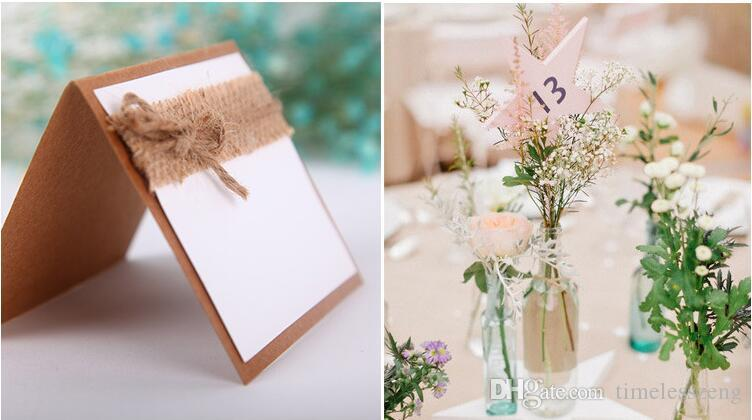 Guest Party Name Table Place Cards With Black Paper Wedding Table Card Place Card Holder Numbers Vintage Wedding Decoration