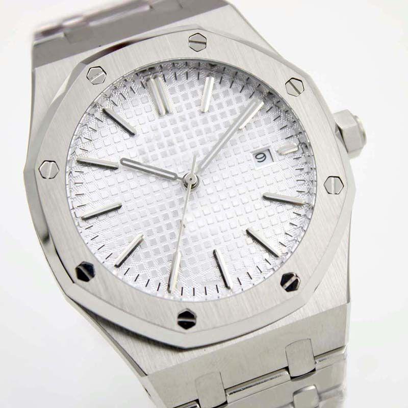 6e7d25dd6af6 Compre Royal Oak Mecánico Automático Cuerda Automática 15400ST Relojes  Acero Inoxidable Dial Blanco Hombres 15400ST Reloj Pulsera 41mm Relojes De  Pulsera ...
