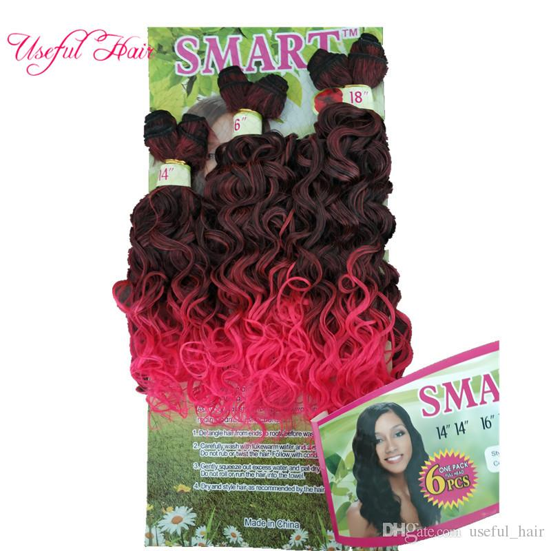 freetress hair deep wave ripple hair braids Jerry curly,deep kinky curly ombre color pink brown,synthetic braiding crochet hair extensions