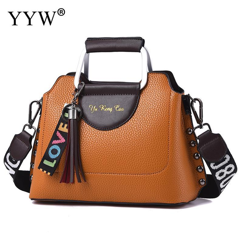 Khaki Women Pu Leather Handbags Ladies Large Tote Bag Female Square  Shoulder Bags Bolsas Femininas Sac New Fashion Crossbody Bag Shoulder Bags  For Women ... bf3e0c9c4a21