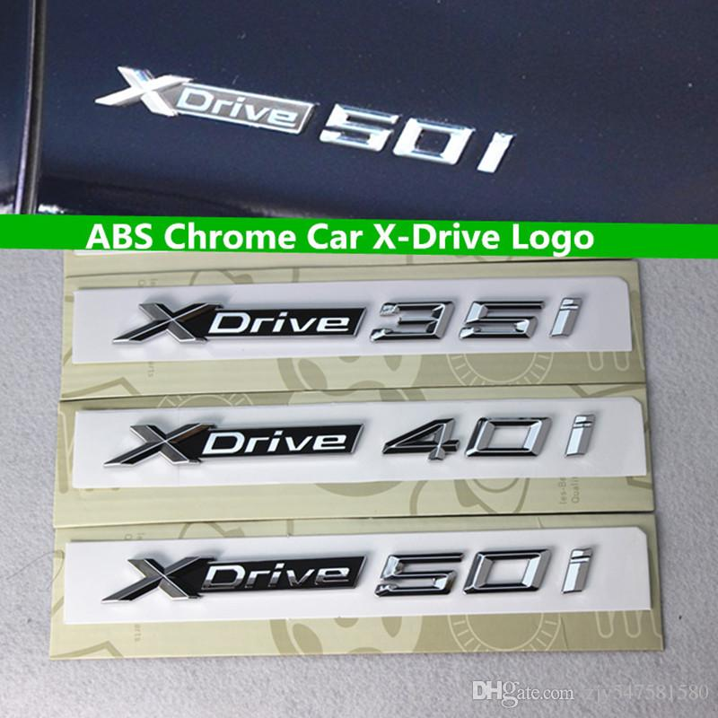 3D ABS Xdrive 18i 20i 30i 35i 40i 45i 48i 50i Emblème Badge Voiture Fender Autocollants Pour BMW X1 E84 F48 X3 E83 F25 X5 E53 E70 F15 X6 E71 F16