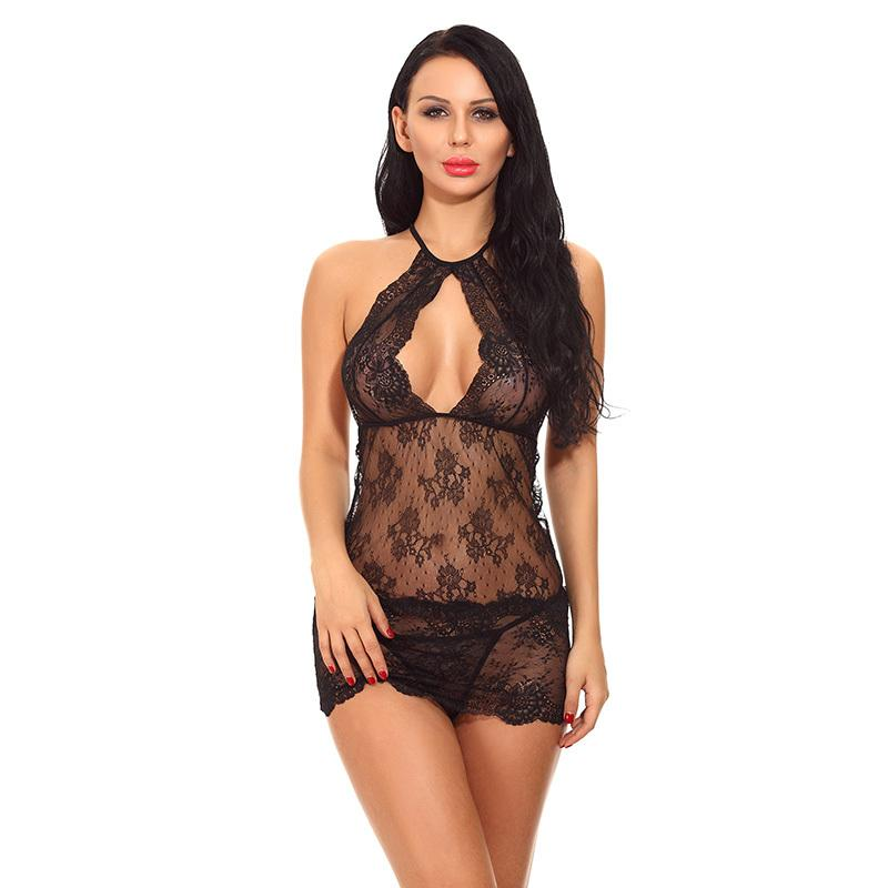 e8828a15d Transparent Sex Costume Chemise Sexy Lingerie Hot Erotic Lace Underwear  Women Sleepwear Nightwear Babydoll Dress Porn Clothing Y18102206 Powell  Craft ...