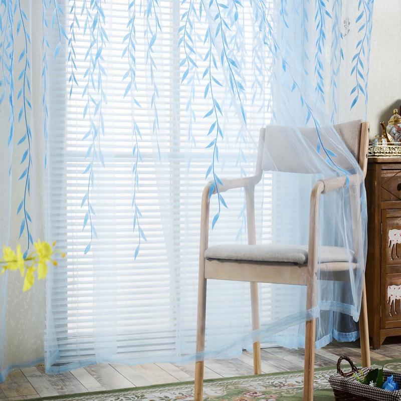 2018 Willow Pattern Curtains Upscale Jacquard Yarn