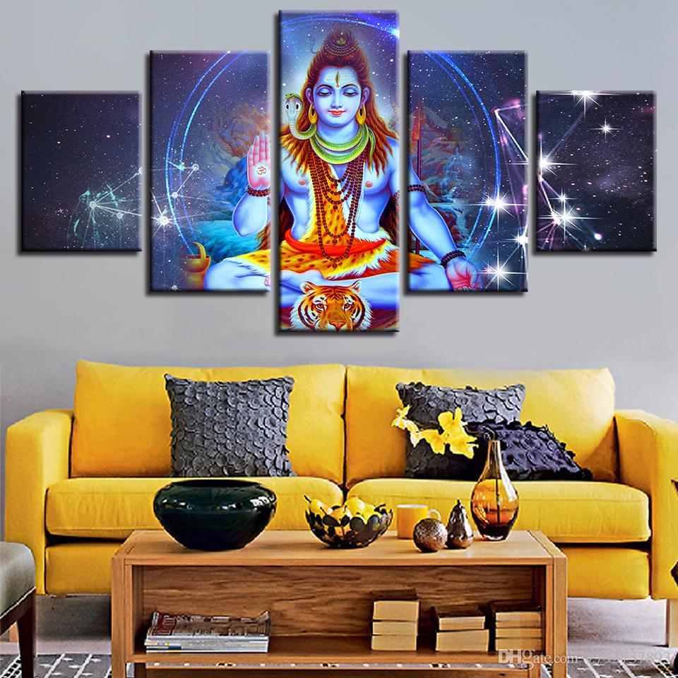 2019 hd prints wall art poster modular indian religious buddha rh dhgate com