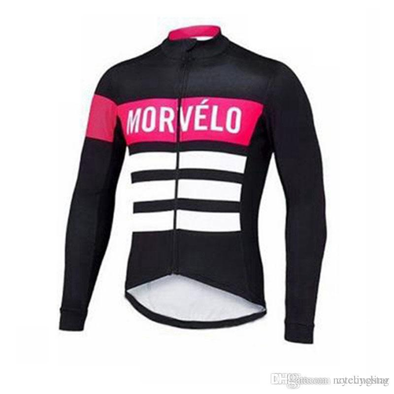 b5d50e8db 2018 Men Cycling Jersey Morvelo Long Sleeve Pro Mountain Bike Shirts  Bicycle Cycling Clothing Spring Autumn Quick Dry Sportswear N0402 Bicycle  Jerseys ...