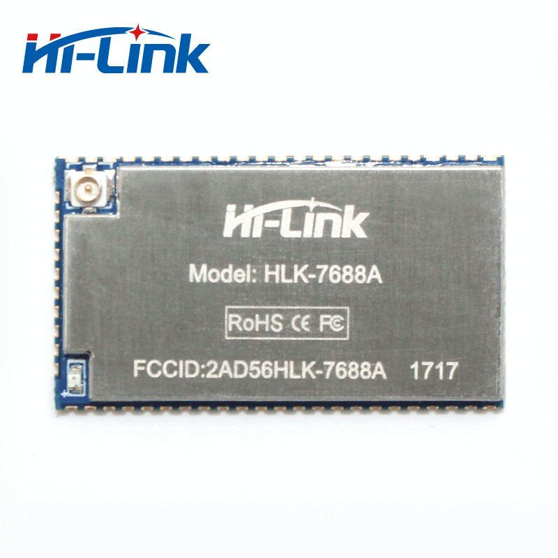 Free shipping 10pcs/lot HLK-7688A AURT wireless WIFI Module MT7688AN Chip  Support Linux Openwrt intelligent houosing system