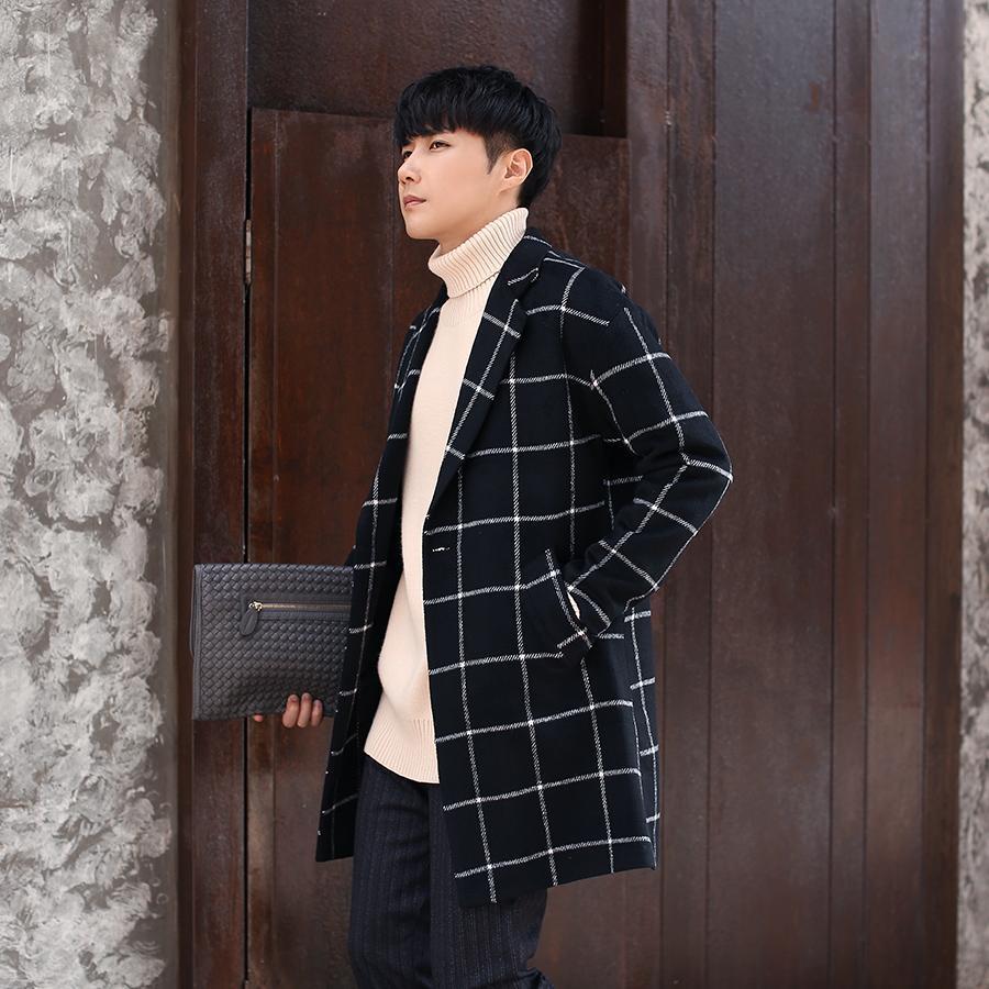 cf6c84eb9b Nuovo trench coat da uomo 2019, cappotto lungo da uomo in giacca e cravatta  da uomo, giacche eleganti da uomo in nappa scozzese di fascia alta.