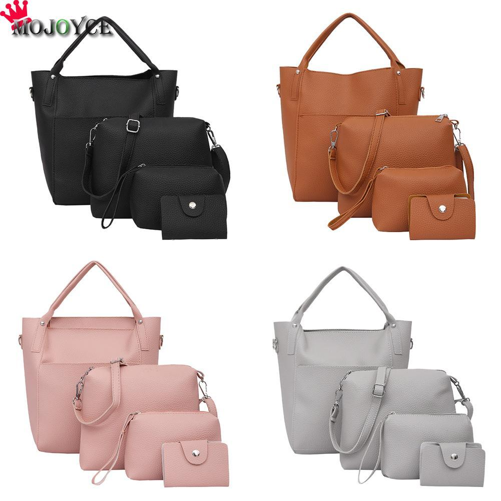 Leather Shoulder Bag Women Purse Handbags Sets Ladies PU Leather Shoulder  Bags Female Messenger Bags Crossbody Tote Bag Crossbody Tote Leather  Shoulder Bag ... 0fce8b21c2