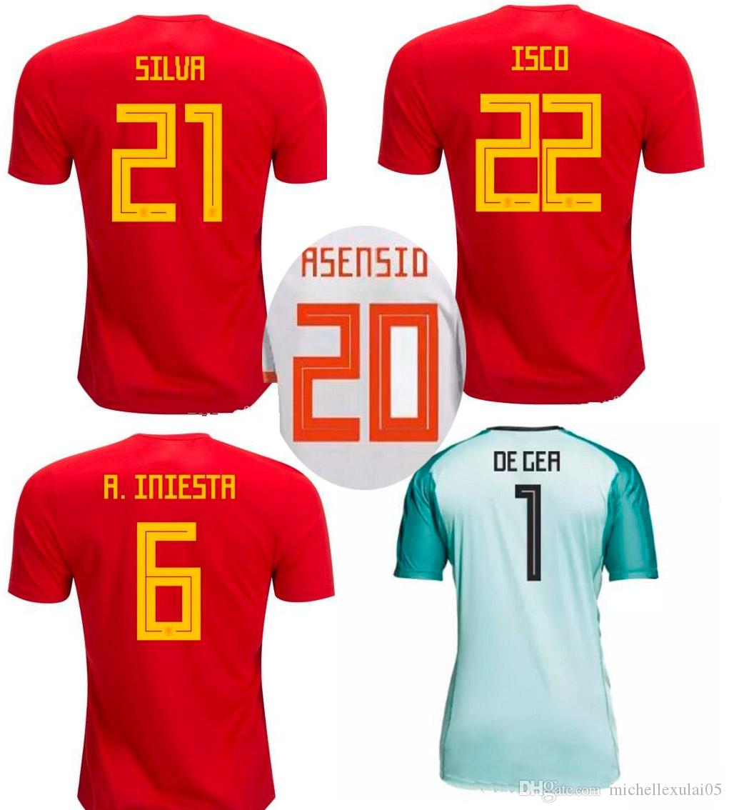 2019 2018 Spain Soccer Jersey 2018 World Cup Espana Football Shirt MORATA  ISCO ASENSIO SILVA RAMOS National Team Football Tops Sports Uniforms From  ... 6c1a0d6bc