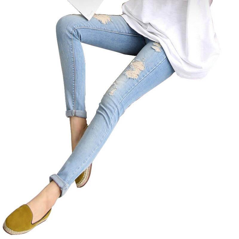6a63052ed Compre Pantalones De Maternidad Ropa Jeans Elásticos Embarazo Para Mujeres Embarazadas  Ropa Belly Cintura Alta Más El Tamaño De Mezclilla Jeans Embarazadas ...
