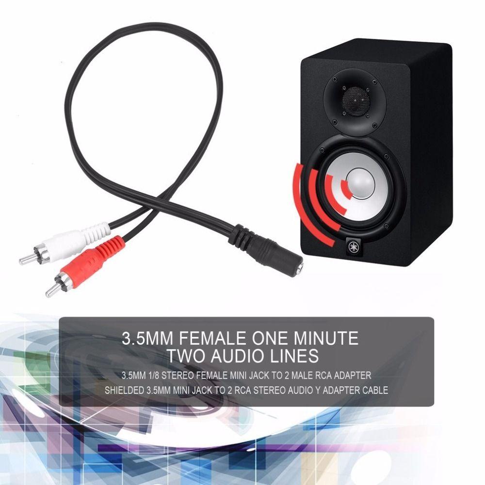 jack 2 rca universal 3 5mm stereo female jack 2 rca male plug rh dhgate com