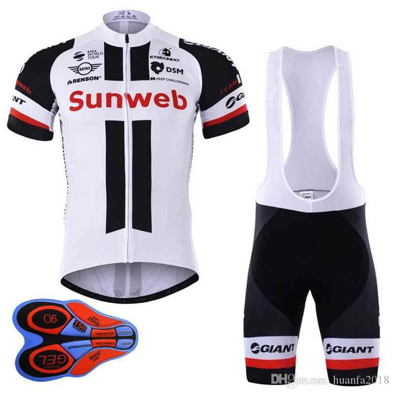 2017 New Sunweb Cycling Jersey Bike Short Sleeve Shirt Bib Shorts ... 7629d8b8d