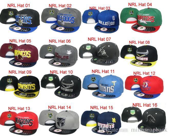 Горячие продажи NRL South Sydney Rabbitohs Hat футбольные кепки Snapbacks шляпы мультфильм логотип регулируемые футбольные кепки мода хип-хоп