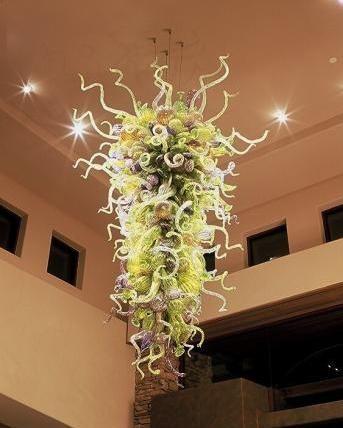 Longree 110-240V Lámpara de araña verde Envío gratuito barato G9 Hogar Cocina Cabina Deco Lámparas colgantes