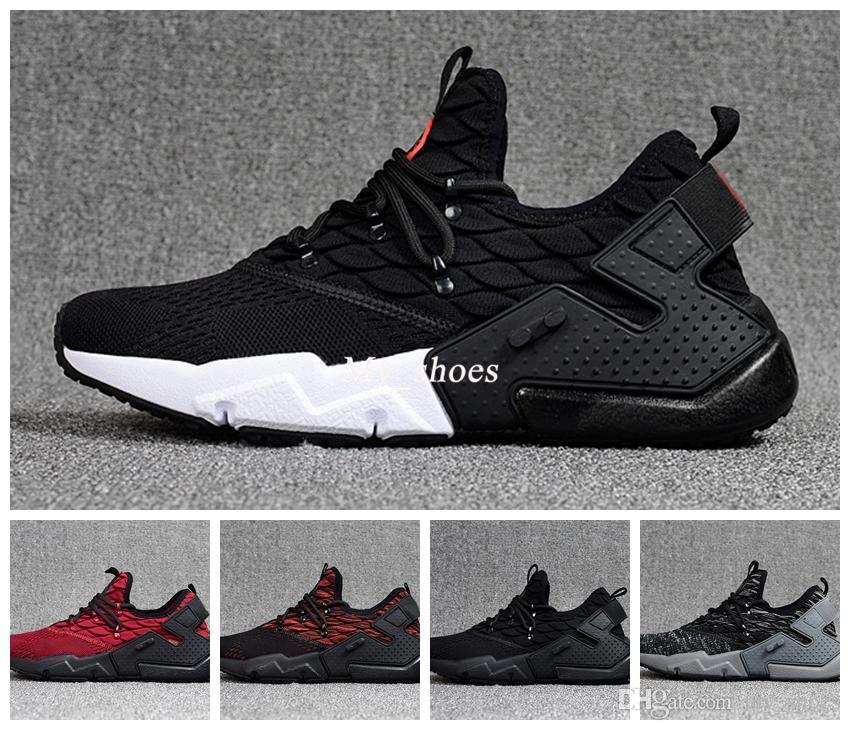 official photos 08005 65d07 Acheter 2018 Air Huarache Drift Huaraches Ultra Respirer Tissé Hurache 6 6  S Chaussures De Course Hommes Femmes Huraches Runner Baskets Sport Sneakers  ...