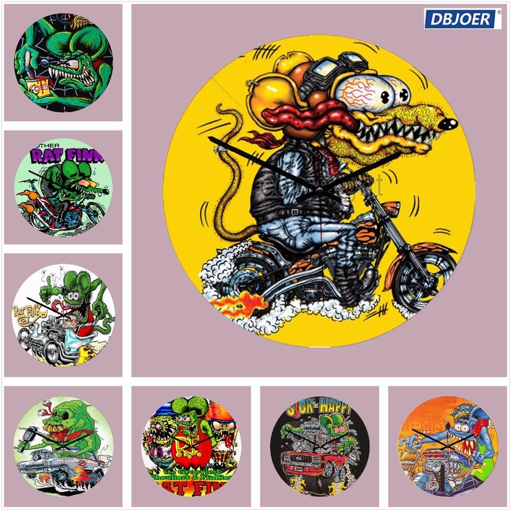 rat fink loose cannon reloj wooden wall clock design silent living rh dhgate com