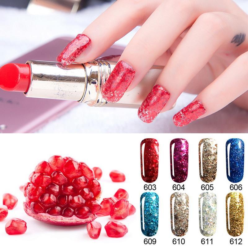 8ml Nail Polish UV And LED Gel Nails Art Shimmer Long Lasting Manicure Soak  Off Varnish Solid Color Party Retro Royal 20 Colors