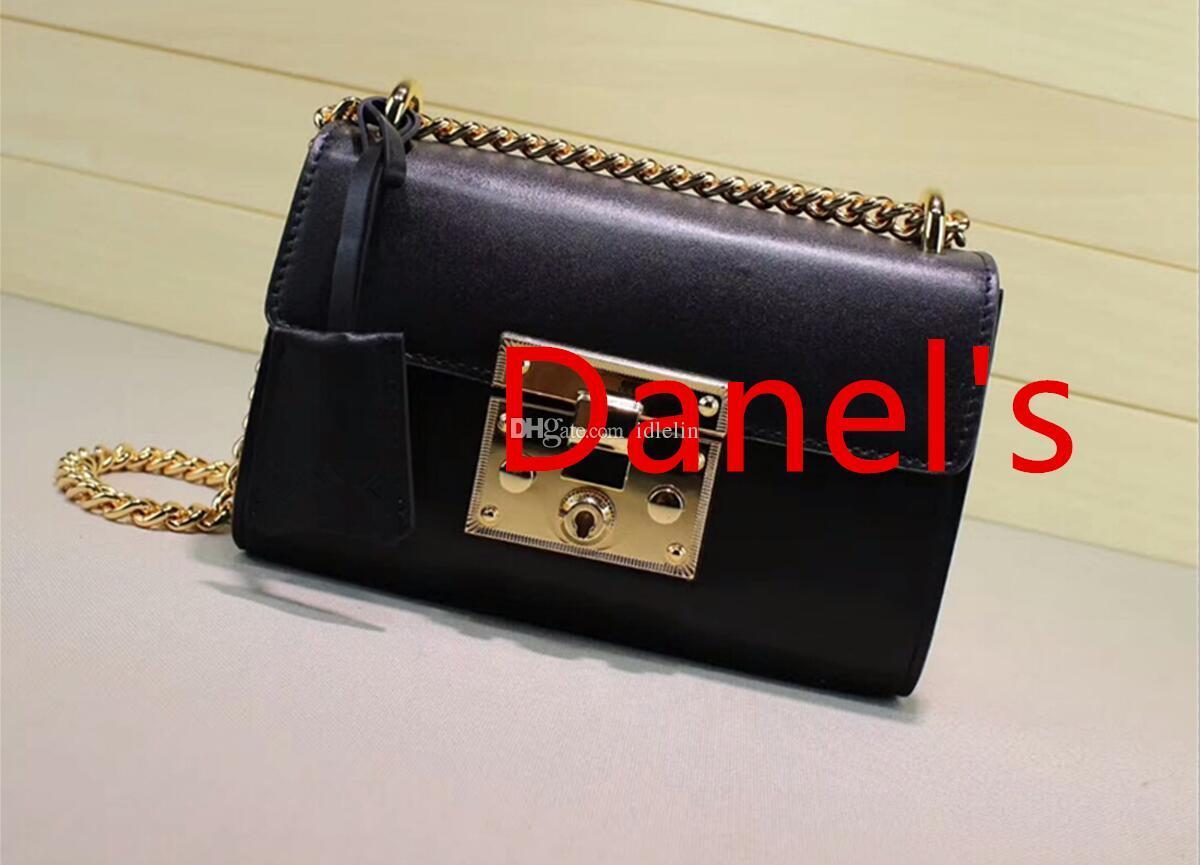 2018 new fashion hot gy luxury design latest woman lady chain letter printing crossbody padlock handbag shoulder flap bag