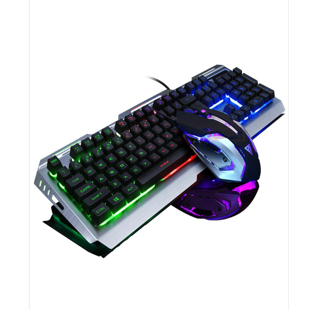 2019 keyboard mouse gaming mouse v1 fashion cool game luminous wired usb mouse keyboard suit. Black Bedroom Furniture Sets. Home Design Ideas