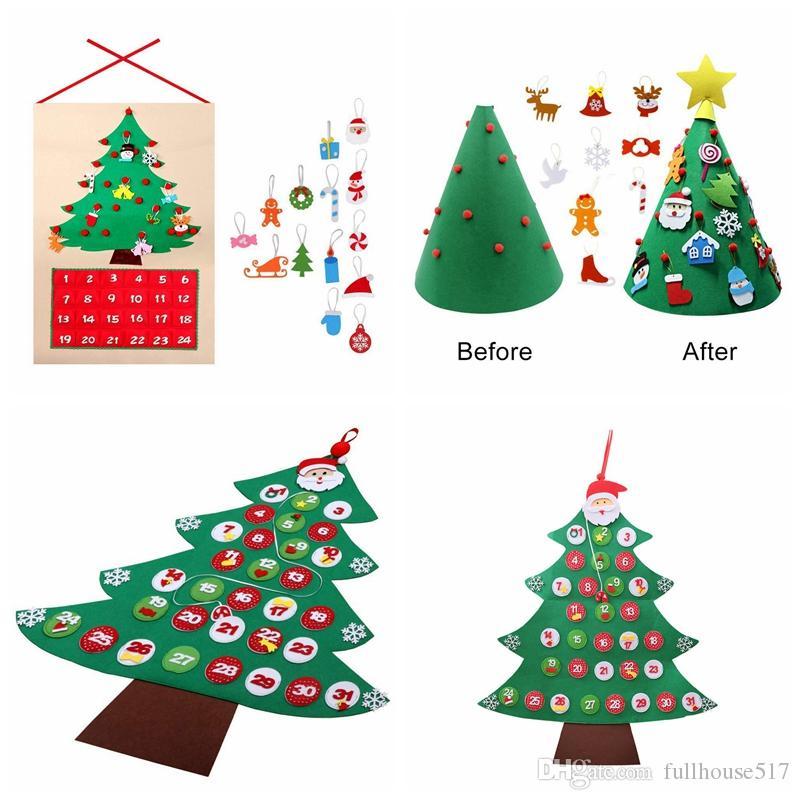Großhandel 3d Diy Kleinkind Freundliche Filz Weihnachtsbaum Stoff ...