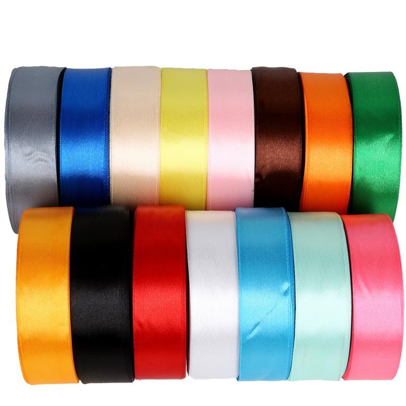 Satin Ribbon 25 Yards 25mm Packing Material DIY Bow Craft Decor Wedding Party Decoration Gift Wrapping Scrapbooking Supplies
