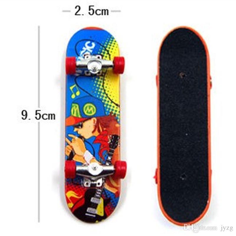 Imprimir soporte de la aleación profesional FingerBoard Skateboard Mini tablas de dedo Skate truck Finger Skateboard para niños de juguete para niños regalo