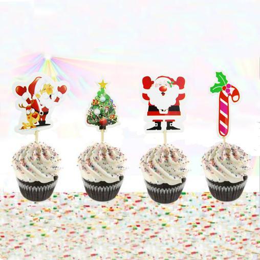 2019 christmas theme christmas tree cartoon cupcake topper picks kid rh dhgate com