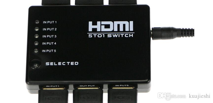 Manufacturers supply HDMI switcher five into one hdmi5 cut 1 1080P switcher with remote control 5 into 1